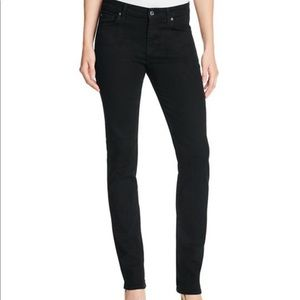 7FAM b(air) kimmie straight leg black jeans 28